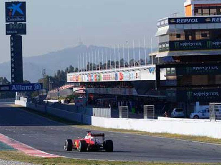 F1季前巴塞罗那试车第八日 四冠王排名榜首法拉利总成绩第一