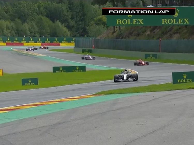 Playback of Formula 1 Belgian Grand Prix